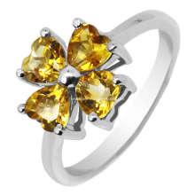 Мода серебряные цитрин ювелирные изделия кольца (GR0012)