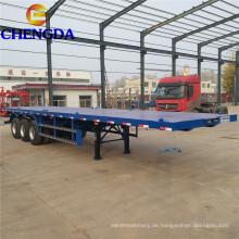 3 Achsen 40 ft Flachbett-Container-Sattelanhänger