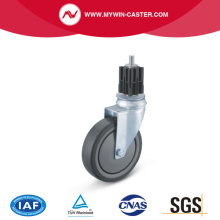 Square Expander Swivel TPE Institutional Caster