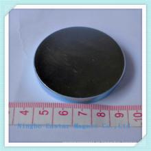 Tamaño grande disco neodimio imán permanente con la galjanoplastia del cinc