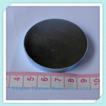 Big Size Disc Neodymium Permanent Magnet with Zinc Plating