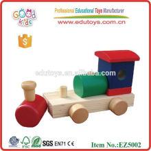 Tren educativo del juguete de madera