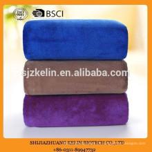 70 * 140 300gsm toalha de microfibra de marca privada azul