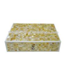 Boîte à bijoux en or de mère de perle CGM-AB pour l'utilisation de l'hôtel