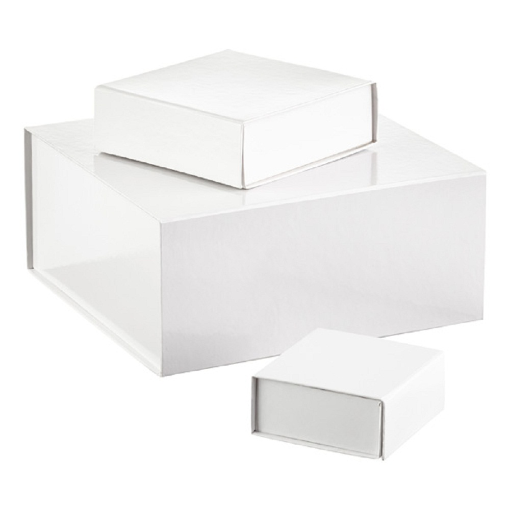 Glossy White Collapsible Gift Boxes-JX