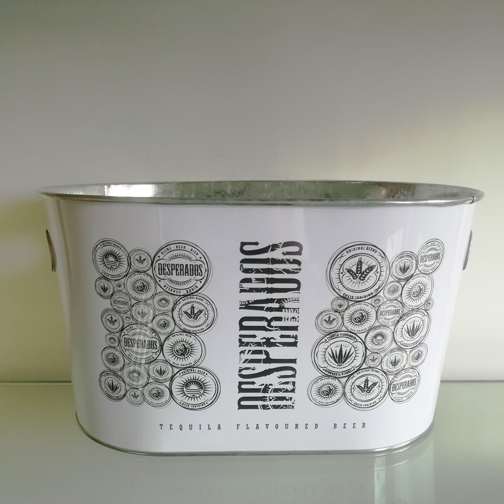 Galvanized Tin Beer Ice Bucket