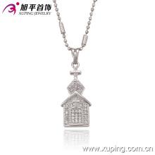 32220 mode élégant rhodium imitation bijoux chaîne pendentif en alliage de cuivre