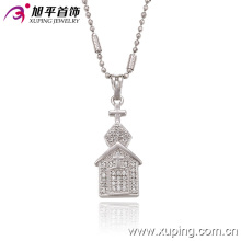 32220 Fashion Elegant Rhodium Imitation Jewelry Chain Pendant in Alloy Copper