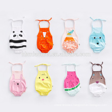 2017 Cheap Price Colorful Printed Halter Onesie Baby Clothes Romper