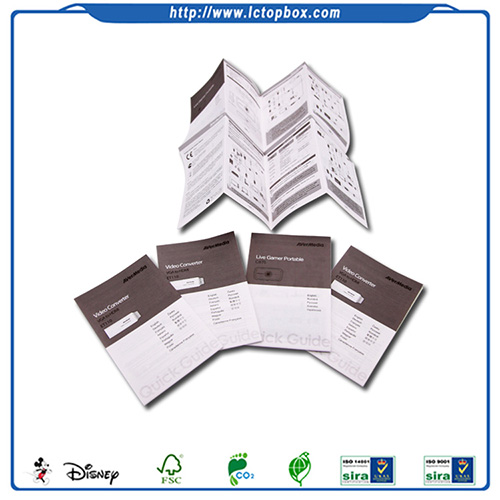 Best Sale Single Color Folded Leaflet Instruction Manual