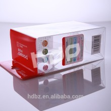 environmental clear plastic packing box with colorful printed pattern
