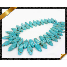Turquoise Horse Eye Gemstone Beads, Top Drilled Turquois Necklace Jewelry Supplies (GB0126)