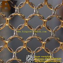 Anillo de metal de moda cortina de malla