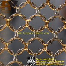Cortina de malha elegante de metal anel