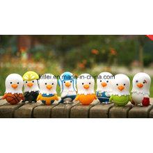 Brinquedos plásticos de borracha coloridos da novidade da cápsula do ovo En71 do pássaro pequeno