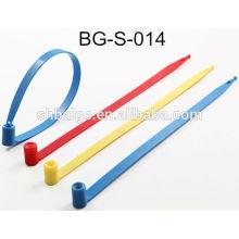 sellos fijos de plástico BG-S-014, precinto de seguridad