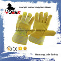 Cowhide Grain Industrial Safety Patched Palm Arbeit Leder Handschuh