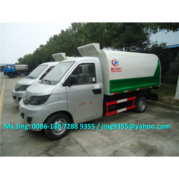 1.5 ton small garbage truck,Karry Brand bin lifter garbage truck made in China