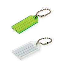 Key Tag with Ball Chains