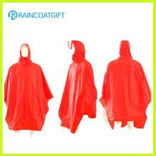 100% poncho de pluie de bicyclette de revêtement de PVC de polyester Rpy-051