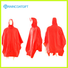 100%Polyester PVC Coating Bicycle Rain Poncho Rpy-051