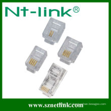 Tipo longo 6p6c rj11 plug modular