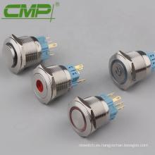 Interruptor de botón iluminado de 10A 25mm