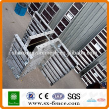 High-efficiency aluminium panel formwork