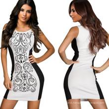 Sexy Women′s Bodycon Slimming Waist Black Cocktail MIDI Dress
