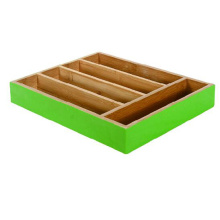 Good Quality for Bamboo Cutlery Organizer Painted bamboo utensil drawer export to Peru Factory