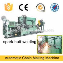 Spark Butt Welding cadena que hace la máquina
