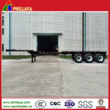 Camion 2/3 essieux 20-53FT conteneur plat extensible Semi remorque
