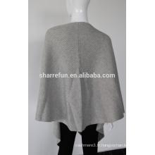 Poncho de tricot de pashmina de cachemire de 100% de pures femmes