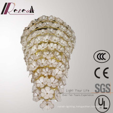 European Hotel Decorative off White Glass Flower Wall Lamp