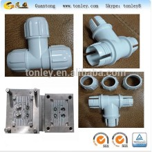 PVC plastic t-branch pipe, plastic bend inection molding,mold maker