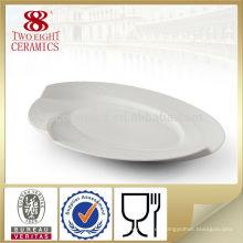 Platos cenales ovales blancos vacíos del dinnerware del gres del gres