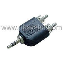 3.5mm stereo plug to 2RCA plug adaptor