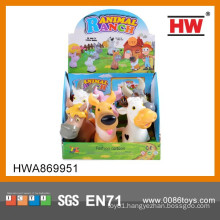 Most Popular 5 Inch Rubber Farm Animals Toys Set