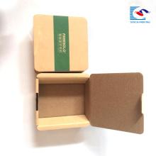 Logotipo personalizado pequeño kraft Embalaje electrónico de papel con auriculares Bluetooth para productos con funda