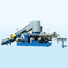 plastic scrap flakes granulating line