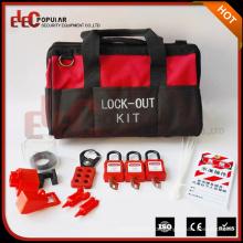 Elecpopular China Hochleistungs-Rot Schwarz Tragbare Tasche Typ Valve Lockout Tagout Kit