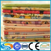 100% algodón 2015 nueva tela de franela de bebé de 150gsm diseño para ropa de cama de bebé conjuntos de tela de franela
