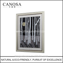 ECO friendly white with black MOP wall picture