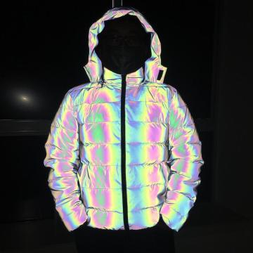 Rainbow Reflektierende Wattierte Jacke Herren Custom