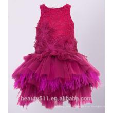 High Quality flower girl dress for fat girl lovely lace flower girl dress for girls christening dress ED746