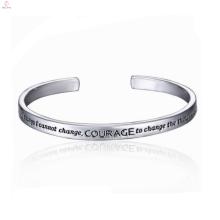 2017 дешевый корейский сплав обшивки белый серебряный браслет для мужчин