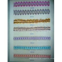 Cintas trenzadas de chenilla multicolor, cintas tejidas, cintas planas para la ropa de mujer y niña