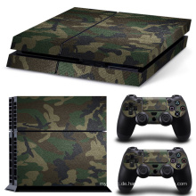 Abnehmbare Camo Muster Vinyl Haut Aufkleber Film für PlayStation 4 PS4 Konsole + 2 Stücke Free Controller Cover Decals