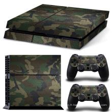 Film Camouflage Amovible Camo Peau Vinyle Autocollant Film Pour PlayStation 4 PS4 Console + 2 Pcs Gratuit Contrôleur Cover Stickers