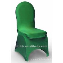 tampa da cadeira banquete, tampa da cadeira de lycra, CTS799 verde, apto para todas as cadeiras